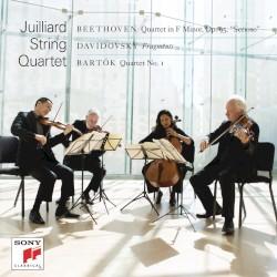 "Beethoven: Quartet in F minor, op. 95 ""Serioso"" / Davidovsky: Fragments / Bartók: Quartet no. 1 by Beethoven ,   Davidovsky ,   Bartók ;   Juilliard String Quartet"