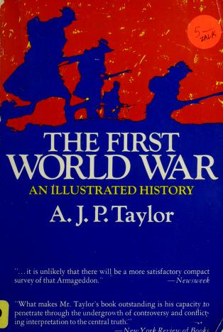Cover of: The First World War   A. J. P. Taylor