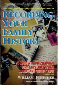 Cover of: Recording your family history by William P. Fletcher